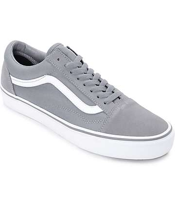 Vans Old Skool Frost Grey & True White Skate Shoes