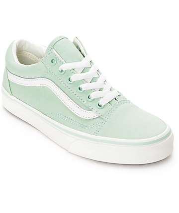 Vans Old Skool Gossamer Green Shoes (Womens)