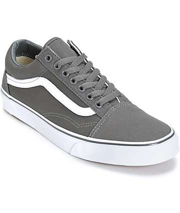 Vans Old Skool Grey Skate Shoes (Mens)