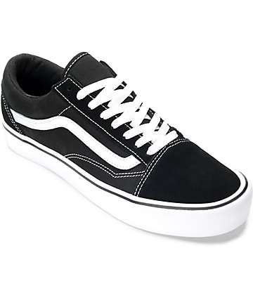 Vans Old Skool Lite Black & White Skate Shoes