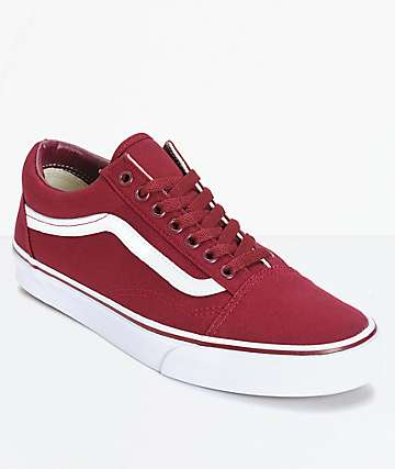 Vans Old Skool Maroon Skate Shoes (Mens)