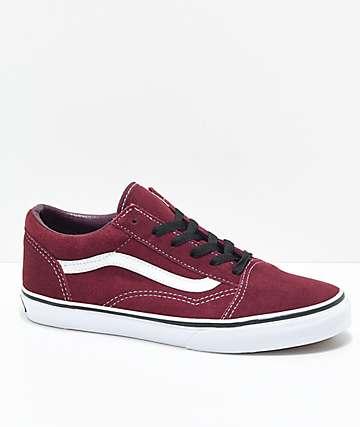 Vans Old Skool Port Royale zapatos de skate para niños en rojo y blanco