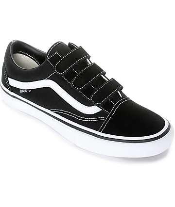 Vans Old Skool Prison Pro zapatos de skate en blanco y negro