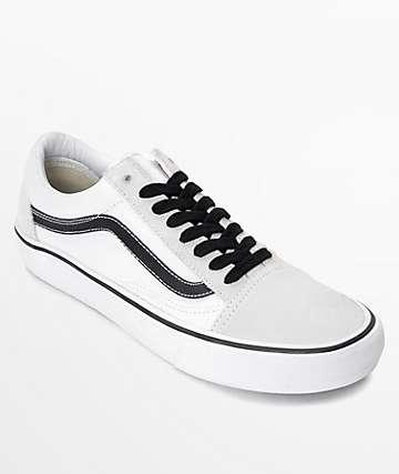 Vans Old Skool Pro 50th Anniversary zapatos de skate blanco y negro