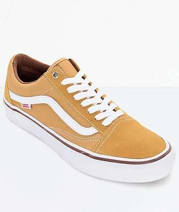 Vans Old Skool Pro zapatos en ambar y blanco