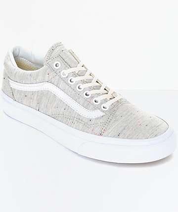 Vans Old Skool Speckle Jersey zapatos en gris para mujeres