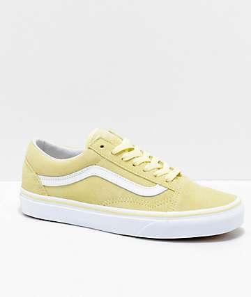 Vans Old Skool Tender Yellow & White zapatos de skate de ante en amarillo y blanco