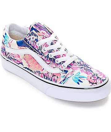 Vans Old Skool Tropical Shoes (Womens)