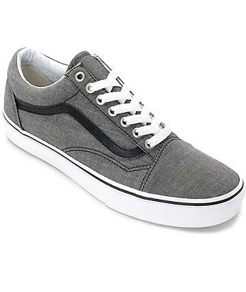 Vans Old Skool zapatos de skate en chambray negro