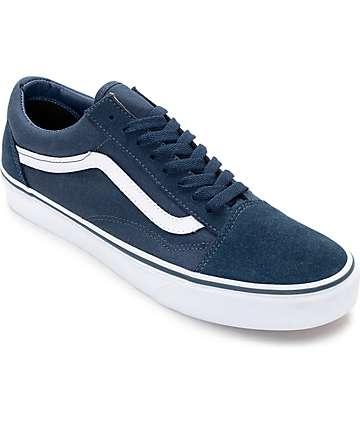 Vans Old Skool zapatos de skate en verde azulado y blanco