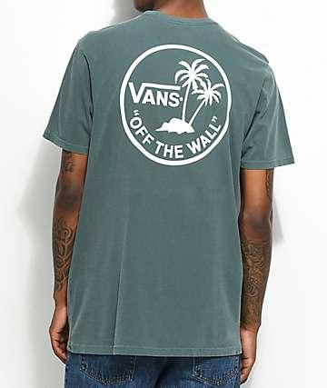 Vans Palm Circle camiseta en verde y blanco