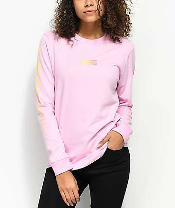 Vans Pastel Gradient Pink Long Sleeve T-Shirt