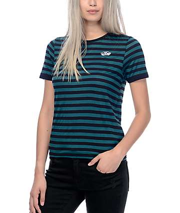 Vans Patch Green & Black Stripe Ringer T-Shirt
