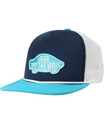 Vans Patchwork Bluebird Snapback Trucker Hat