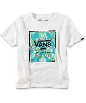 Vans Print Box Boys White T-Shirt