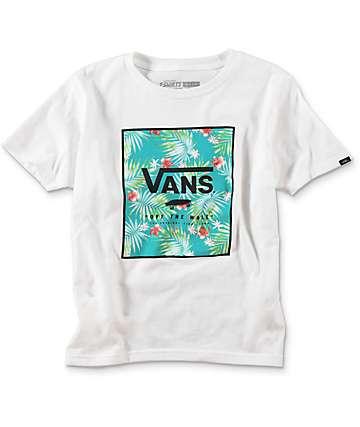 Vans Print Box camiseta blanca para niños