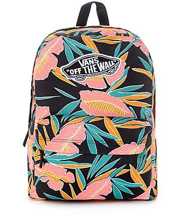 Vans Real Black Tropical Women's Backpack