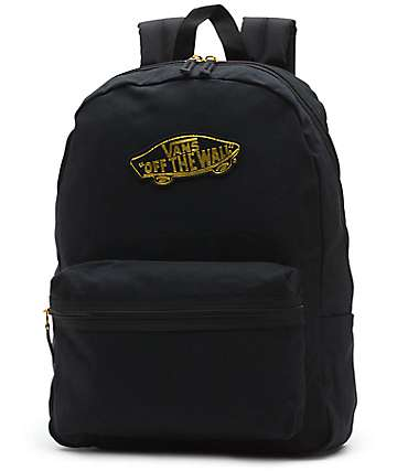 Vans Realm 50th Anniversary Black & Gold Backpack