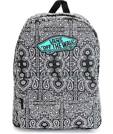 Vans Realm Bandana Print Backpack