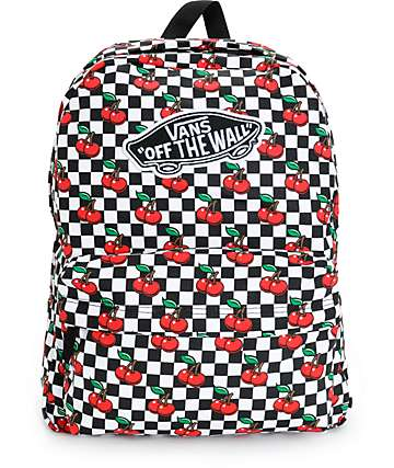 Vans Realm Cherry Checkers Backpack
