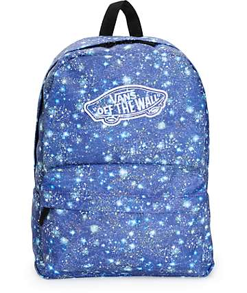 Vans Realm Galaxy Satellite Blue Backpack