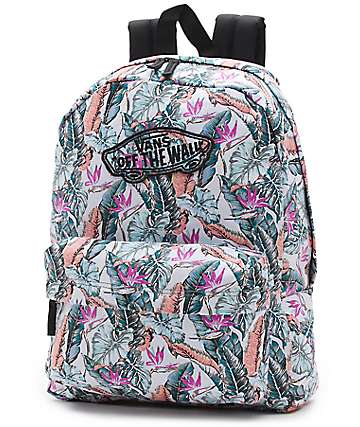 Vans Realm Tropical Multi & Black Floral Backpack
