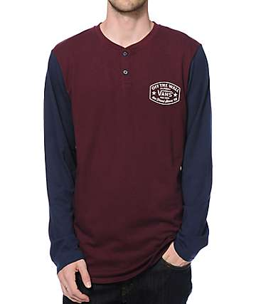 Vans Robles Long Sleeve Henley T-Shirt
