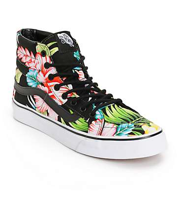 Vans SK8 Hi Slim Hawaiian Floral Shoes (Womens)