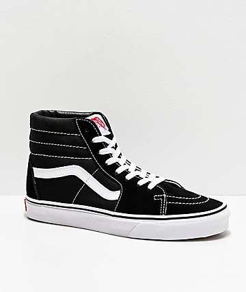 Vans SK8 Hi zapatos de skate en blanco y negro (hombre)
