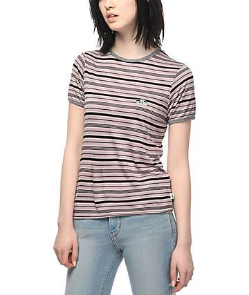 Vans Sea Fog Striped Ringer T-Shirt