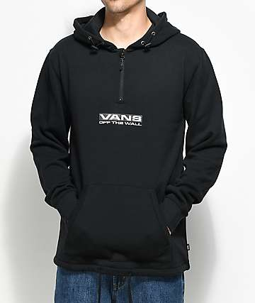 Vans Side Waze Quarter Zip Black Pullover Hoodie