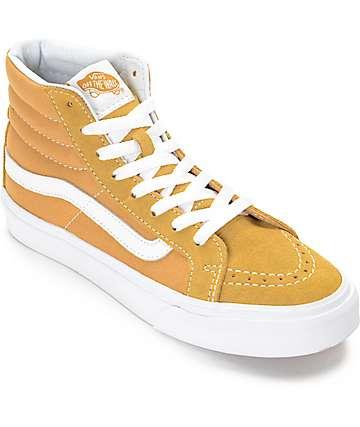 Vans Sk8-Hi Amber Gold zapatos de skate para mujeres