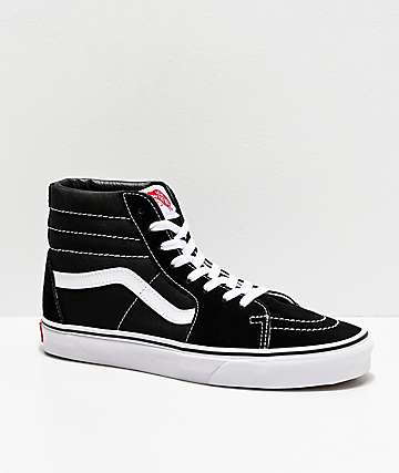 Vans Sk8-Hi Black & White Skate Shoes (Mens)