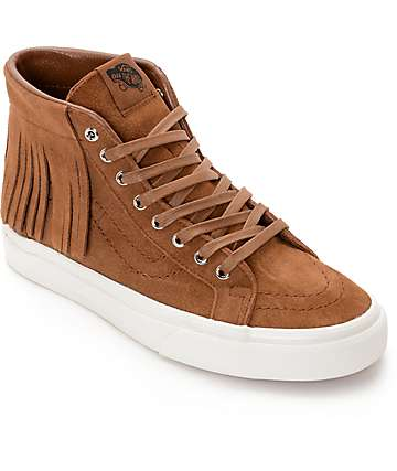 Vans Sk8-Hi Brown Moc Shoes (Women's)