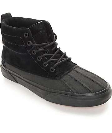 Vans Sk8-Hi Del Pato MTE zapatos monocromaticos en negro (Mens)