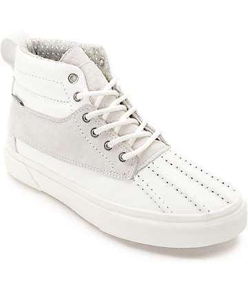 Vans Sk8-Hi Del Pato White & White Shoes
