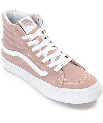Vans Sk8-Hi Fawn Mauve zapatos de skate para mujeres