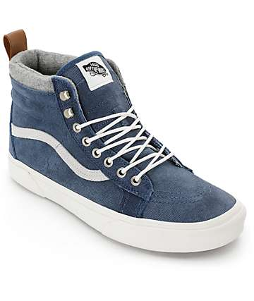 Vans Sk8-Hi MTE Denim Suede Skate Shoes (Mens)
