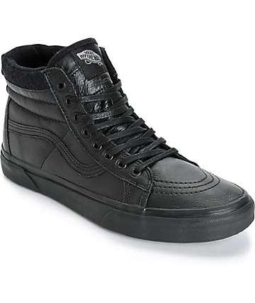 Vans Sk8 Hi MTE zapatos de skate de cuero negro