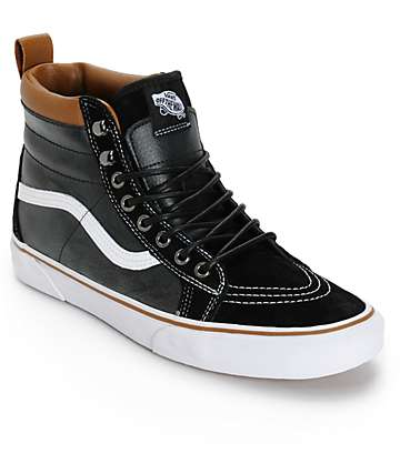 Vans Sk8 Hi MTE zapatos de skate en negro