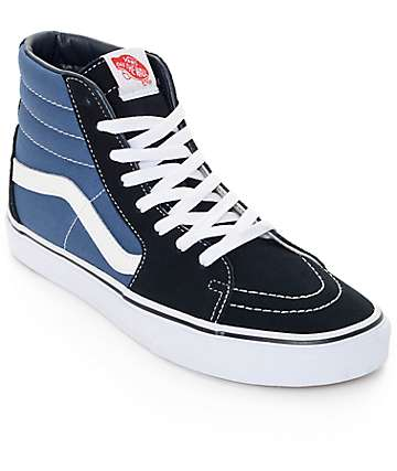 Vans Sk8-Hi Navy Skate Shoes (Mens)