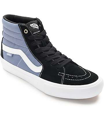 Vans Sk8-Hi Pro Black, Blue, & White Skate Shoes