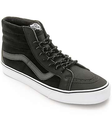 Vans Sk8-Hi Reissue Commuter DX Black Reflective Skate Shoes (Mens)