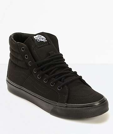 Vans Sk8-Hi Slim Black Shoes (Womens)