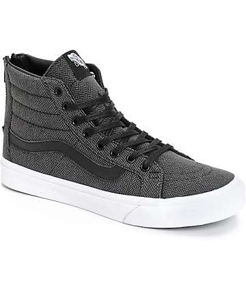 Vans Sk8-Hi Slim Herringbone Tweed Shoes (Womens)