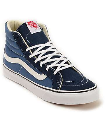 Vans Sk8-Hi Slim Navy Shoes (Womens)