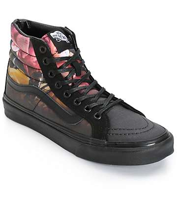 Vans Sk8-Hi Slim Ombre Floral Shoes (Womens)