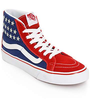 Vans Sk8-Hi Slim Studded Star Shoes (Womens)