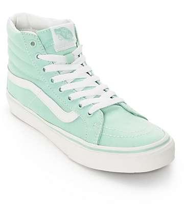 Vans Sk8-Hi Slim zapatos verdes claros (mujer)