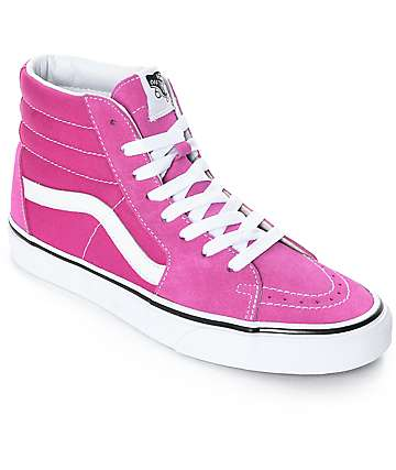 Vans Sk8-Hi Very Berry & True White Skate Shoes